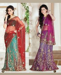 Picture of Multicolor Net Saree