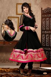 Picture of Black Net Anarkali Suit