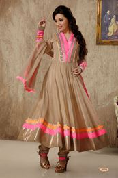 Picture of Beige Net Anarkali Suit
