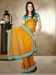 Picture of Moon Collection Mestered Chiffon Saree