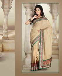 Picture of Gold Pure Shimmer Saree